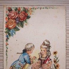 Postales: POSTAL DIBUJO CARICATURA NIÑOS ILUSTRADOR GIRONA ED ARTIGAS RIMAS BECQUER 1947 CIRCULADA SERIIE 1014. Lote 164495470