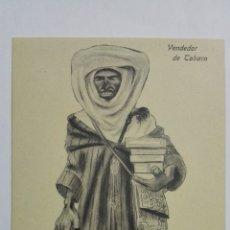 Postales: ANTIGUA POSTAL HUMORISTICA, VENDEDOR DE TABACO, EDICION BOIX HERMANOS, MELILLA. Lote 165199450