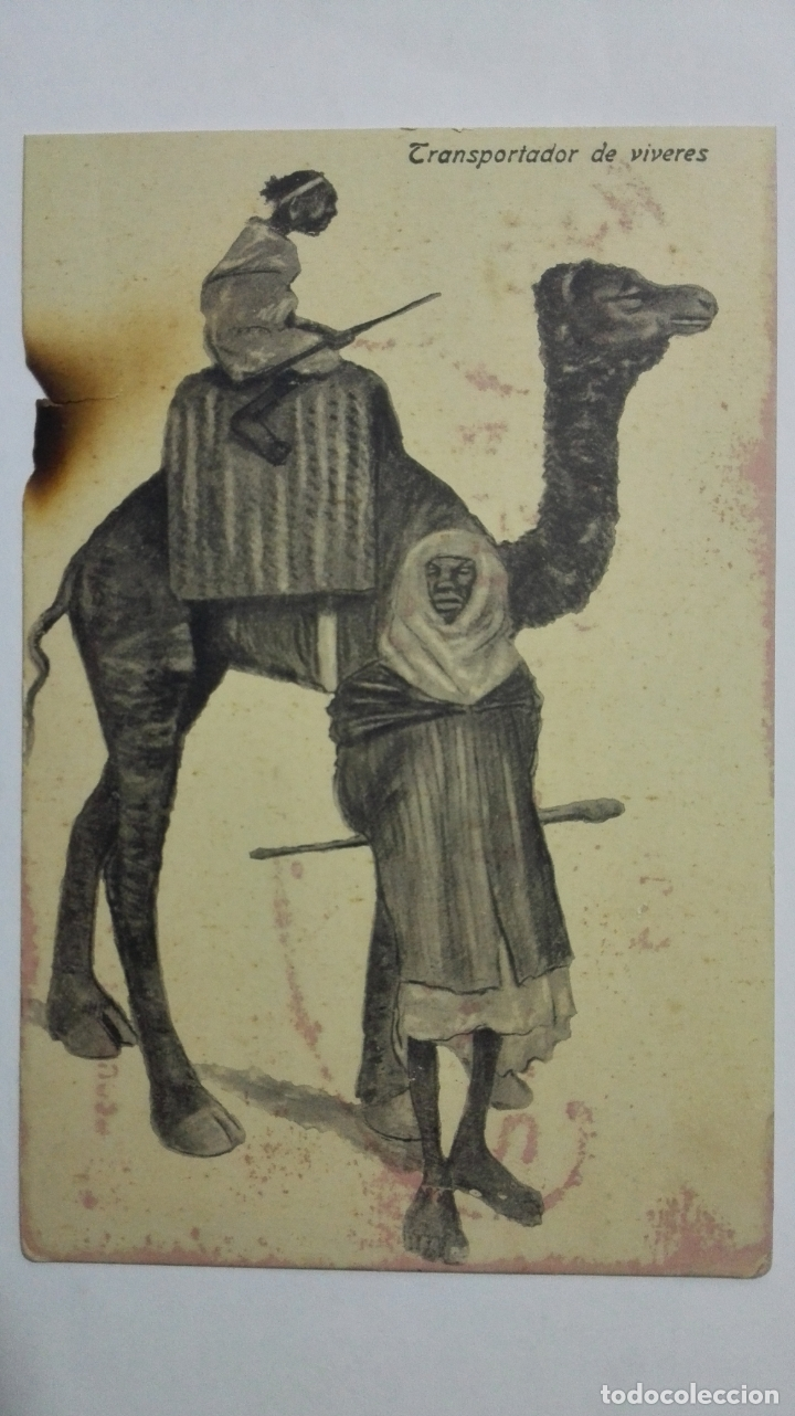 ANTIGUA POSTAL HUMORISTICA, TRANSPORTADOR DE VIVERES, EDICION BOIX HERMANOS, MELILLA (Postales - Dibujos y Caricaturas)