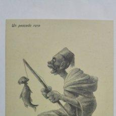 Postales: ANTIGUA POSTAL HUMORISTICA, UN PESCADO RARO, EDICION BOIX HERMANOS, MELILLA. Lote 165201090