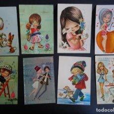 Postales: LOTE DE 8 POSTALES FANTASÍA, ILUSTRACIONES ESPAÑA VARIADAS, VER FOTOS. Lote 165436710