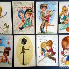 Postales: LOTE DE 8 POSTALES FANTASÍA, ILUSTRACIONES ESPAÑA VARIADAS, VER FOTOS. Lote 165436994