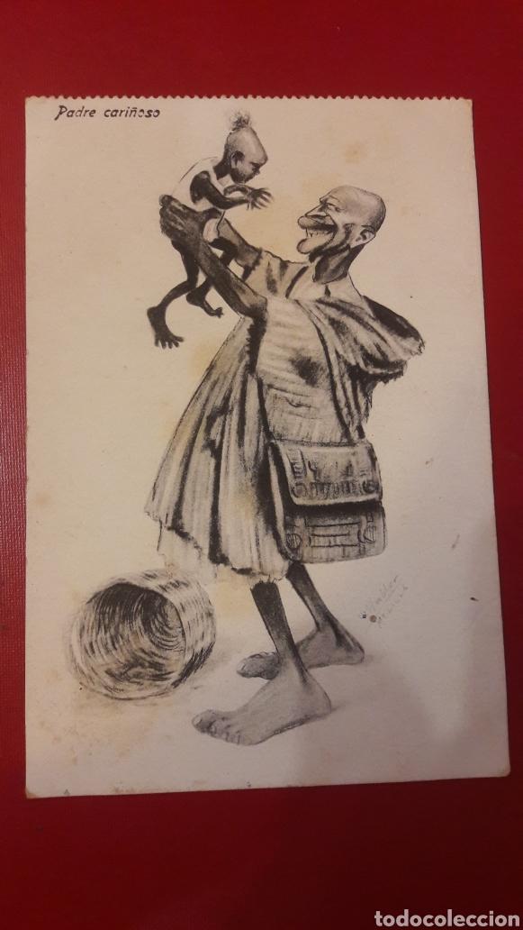 PADRE CARIÑOSO ..BOIX HERMANOS MELILLA (Postales - Dibujos y Caricaturas)