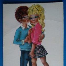 Postales: POSTAL PAREJA ROMANTICA ILUSTRA OLIVA ESCRITA AÑO 1971. Lote 166554218
