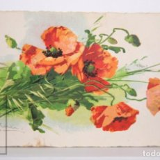 Postales: POSTAL ILUSTRADA POR CATERINE KLEIN - AMAPOLAS / FLORES - CIRCULADA, AÑO 1942. Lote 167282384