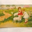Postales: POSTAL ROMÁNTICA... DULCES SUEÑOS.. COLOREADA (H.1940?). Lote 167586929