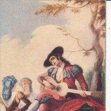 Postales: Nº 45 EL MAJO DE LA GUITARRA BAYEU MUSEO DEL PRADO MADRID (SIN CIRCULAR) . Lote 167599068
