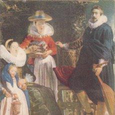 Postales: Nº 55 FAMILIA EN UN JARDIN JORDOENS MUSEO DEL PRADO MADRID . Lote 167599504