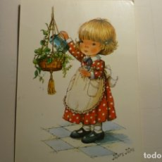 Postales: POSTAL NIÑA REGANDO PLANTA -DIBUJO MARY MAY-CIRCULADA. Lote 168236076