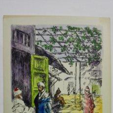 Postales: POSTAL ILUSTRADA DIBUJO AMELIA RE, TETUAN, AÑOS 50, SIN CIRCULAR. Lote 169185148
