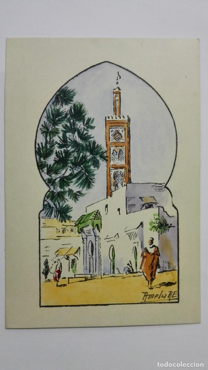 POSTAL ILUSTRADA DIBUJO AMELIA RE, TETUAN, SERIE TERCERA, AÑOS 50, SIN CIRCULAR (Postales - Dibujos y Caricaturas)