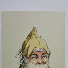 Postales: POSTAL ILUSTRADA DIBUJO AMELIA RE, TETUAN, AÑOS 50, SIN CIRCULAR. Lote 169186784