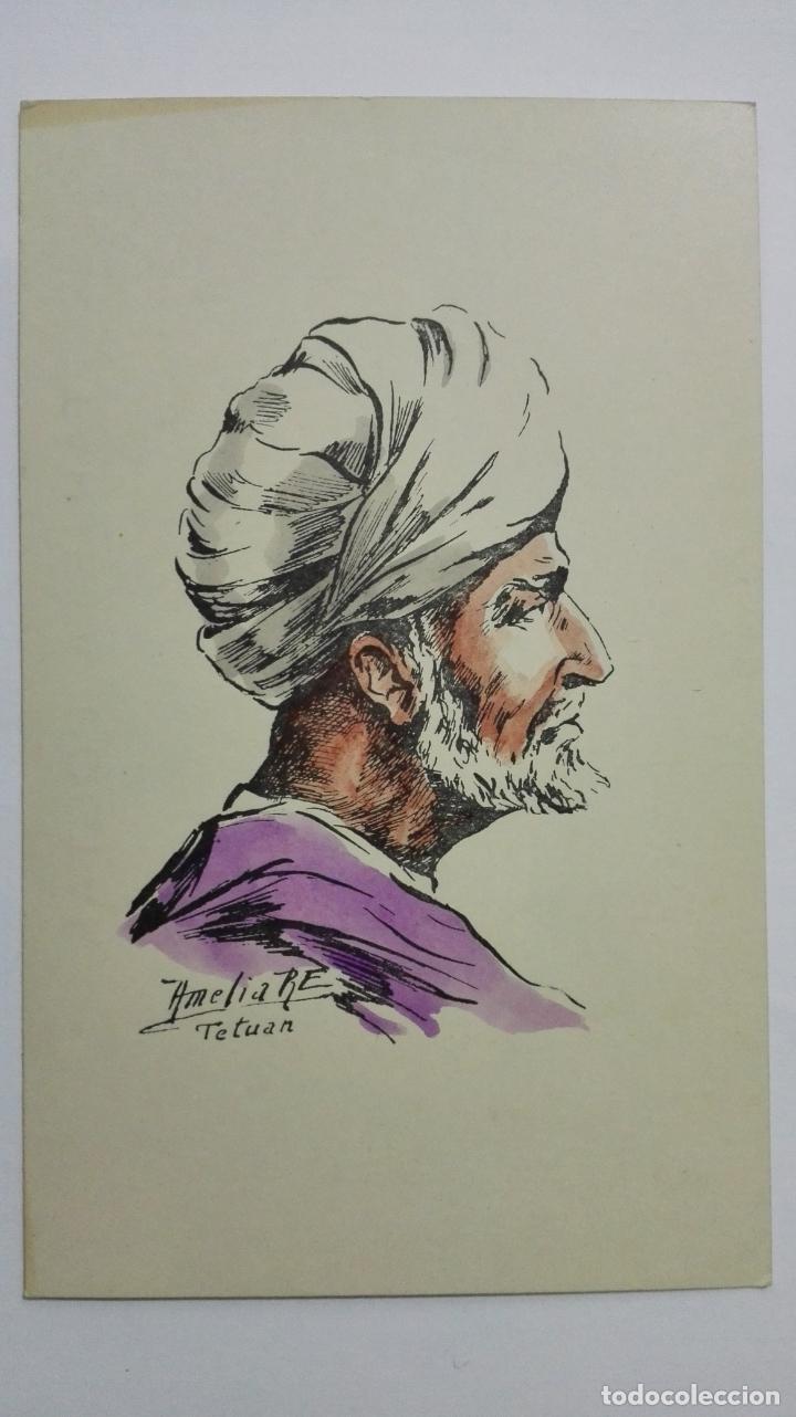 POSTAL ILUSTRADA DIBUJO AMELIA RE, TETUAN, AÑOS 50, SIN CIRCULAR (Postales - Dibujos y Caricaturas)