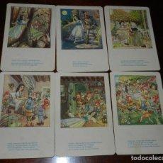 Postales: 6 POSTALES COLECCION BLANCA NIEVES, EDICIONES DE ARTE IKON, BARCELONA, LA COLECCION SON 9, NO CIRCUL. Lote 169516068