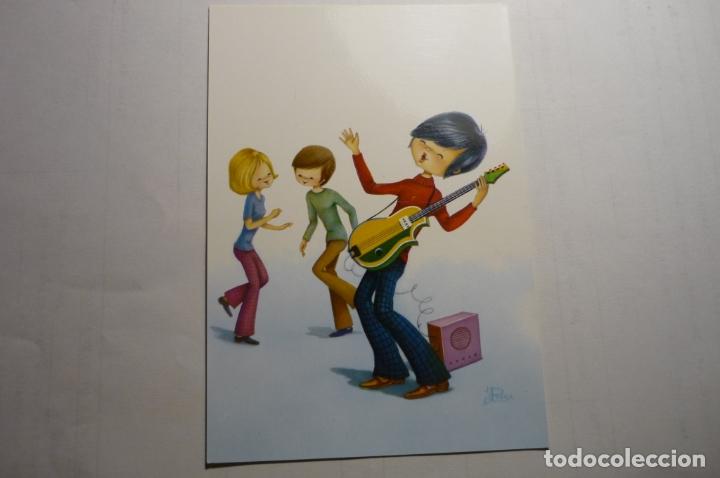 POSTAL C Y Z 6655 - JOVENES DE FIESTA-DIBUJO ROSA (Postales - Dibujos y Caricaturas)