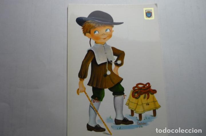 POSTAL TRAJES REGIONALES-NAVARRA DIBUJO CASTAÑER (Postales - Dibujos y Caricaturas)