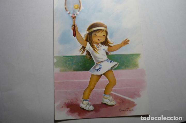 POSTAL TENISTA -DIBUJO CONSTANZA (Postales - Dibujos y Caricaturas)