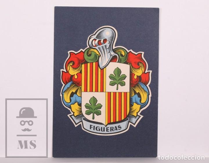 POSTAL BLASONES DE ESPAÑA - FIGUERAS / FIGUERES. COLECCIÓN HERÁLDICA - SIN CIRCULAR (Postales - Dibujos y Caricaturas)
