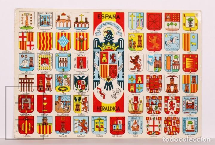 POSTAL CON ESCUDOS DE ESPAÑA / HERÁLDICA - 1. ESPAÑA. ESCUDOS DE SUS PROVINCIAS - AÑOS 60-70 (Postales - Dibujos y Caricaturas)