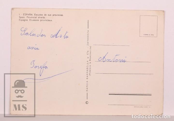 Postales: Postal con Escudos de España / Heráldica - 1. España. Escudos de sus Provincias - Años 60-70 - Foto 2 - 169897748