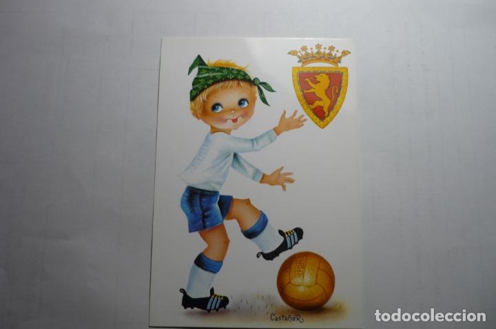POSTAL FUTBOL ZARAGOZA-DIBUJO CASTAÑER (Postales - Dibujos y Caricaturas)