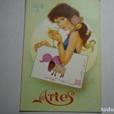 Postales: POSTAL HOROSCOPO ARIES -DIBUJO ARIAS-CIRCULADA. Lote 169993352