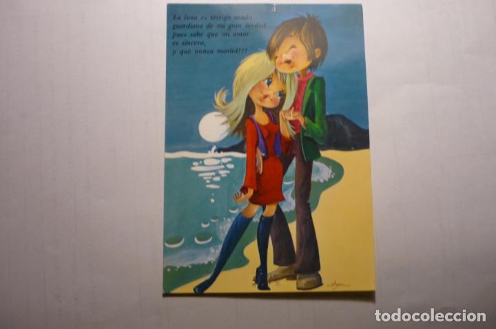 POSTAL ENAMORADOS -DIBUJO AUSN - (Postales - Dibujos y Caricaturas)