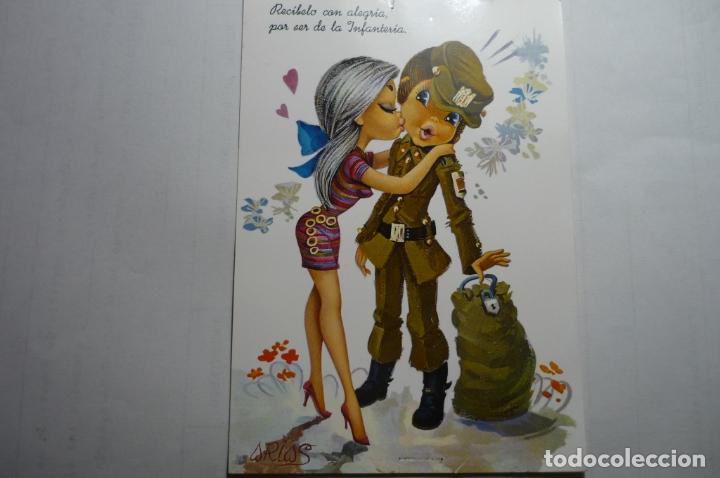 POSTAL SOLDADO Y NOVIA-DIBUJO ARIAS ESCRITA (Postales - Dibujos y Caricaturas)