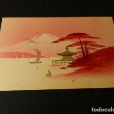 Postales: POSTAL PINTADA A MANO ESCENA JAPON PUBLICIDAD SAGRADO CORAZON MISIONEROS. Lote 171319393