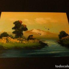 Postales: POSTAL PINTADA A MANO ESCENA JAPON PUBLICIDAD SAGRADO CORAZON MISIONEROS. Lote 171319548