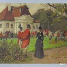 Postales: POSTAL LITOGRAFIADA CON RELIEVE. ESCENA INGLESA. SC. Lote 171326067