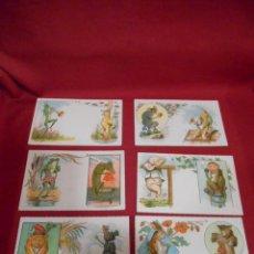Postales: LOTE DE SEIS POSTALES ALEMANAS DE DIBUJOS DE ANIMALES. Lote 171351443