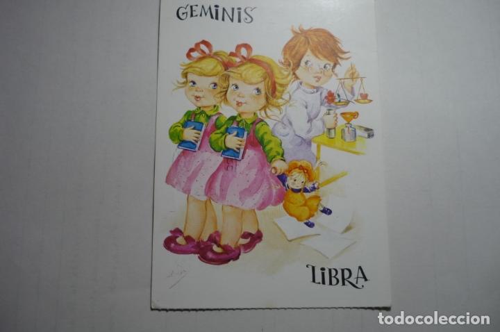 POSTAL HOROSCOPO GEMINIS LIBRA -DIBUJO ALONSO CIRCULADA (Postales - Dibujos y Caricaturas)