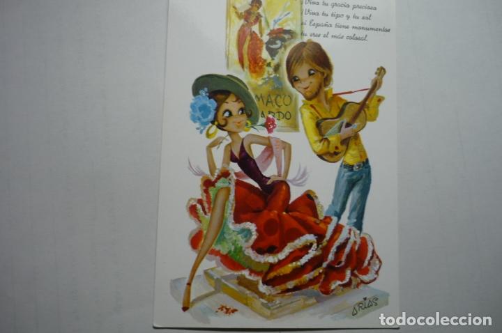 POSTAL FLAMENCO --DIBUJO ARIAS ESCRITA (Postales - Dibujos y Caricaturas)