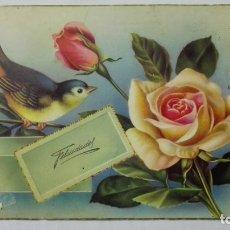 Postales: POSTAL, FELICIDADES, AÑOS 50. Lote 171532358