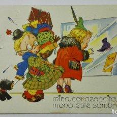 Postales: POSTAL, MIRA, CORAZONCITO, QUE MONO ESTE SOMBRERITO, DIBUJO COZZI, AÑOS 40. Lote 171533524