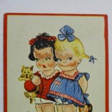 Postales: POSTAL, UNA MORENA Y UNA RUBIA, AÑOS 40, EDICIONES JOTABE, SERIE E. Lote 171535095