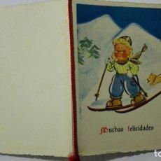 Postales: TARJETA MUCHAS FELICIDADES, AÑO 1942. Lote 171601840