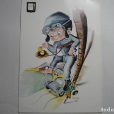 Postales: POSTAL CHOFER.- DIBUJO CASTAÑER -ESCRITA. Lote 171636965