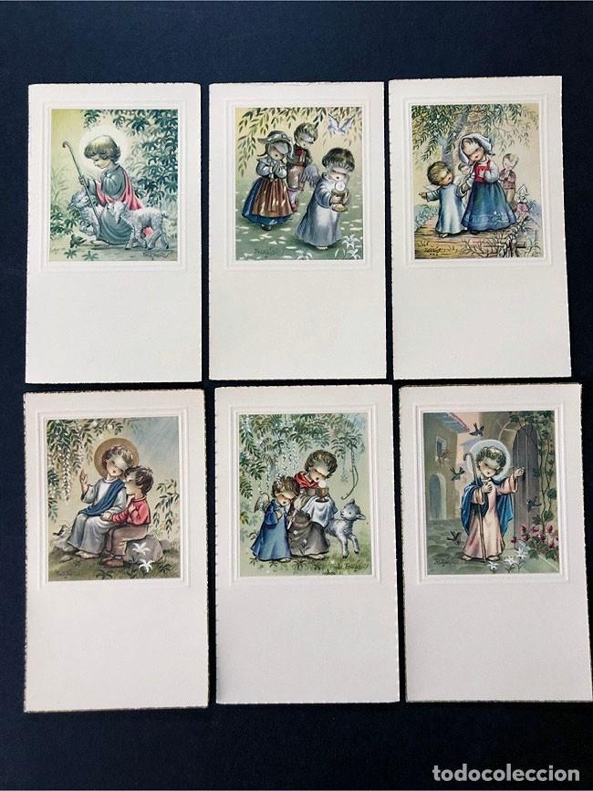 FERRANDIZ / 6 RECORDATORIOS COMUNION DIFERENTES - AÑOS 60 / SUBI / SIN USAR (Postales - Dibujos y Caricaturas)