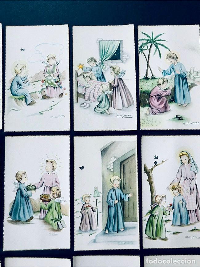 Postales: M.A. PRUNA / 15 RECORDATORIOS COMUNION / ANGEL DE LA GUARDA- AÑOS 70 / SIN USAR - Foto 2 - 171763379
