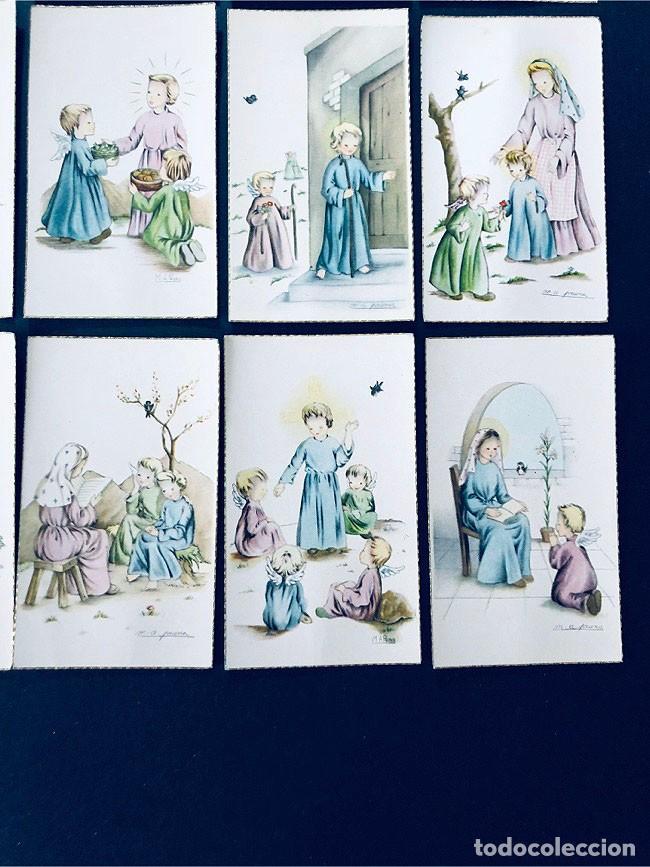 Postales: M.A. PRUNA / 15 RECORDATORIOS COMUNION / ANGEL DE LA GUARDA- AÑOS 70 / SIN USAR - Foto 3 - 171763379