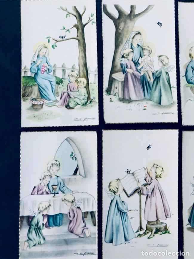 Postales: M.A. PRUNA / 15 RECORDATORIOS COMUNION / ANGEL DE LA GUARDA- AÑOS 70 / SIN USAR - Foto 4 - 171763379