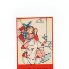 Postales: MARIA CLARET. COLECCIÓN DE POSTALES MARI-PEPA SERIE T NÚM 5 DENTISTA, LO QUE SUFRO POR TENER JUICIO. Lote 172056480