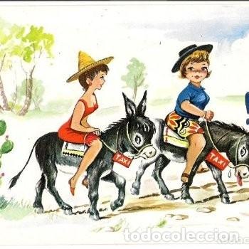 -72027 POSTAL DIBUJO BURROS TAXI, HUMOR, ILUSTRACION GART, VACACIONES, SAVIR Nº 533 (Postales - Dibujos y Caricaturas)