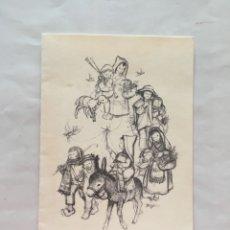 Postales: FELICITACIÓN NAVIDAD. DIPTICO. ILUSTRACIÓN FERRANDIZ. SUBÍ. NAVIDAD 1965.. Lote 172268123