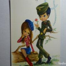Postales: POSTAL SOLDADO - DIBUJO ALAIN ESCRITA. Lote 172661708