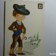 Postales: POSTAL DIBUJO CASTAÑER TRAJES REGIONALES LEON. Lote 172722494