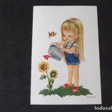 Postales: DIBUJOS-V20-NO ESCRITA-CHICOS Y CHICAS-BV-SYLVIA-DL B.41051-X. Lote 173678324