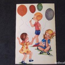 Postales: DIBUJOS-V20-NO ESCRITA-CHICOS Y CHICAS-BV-SYLVIA-DL B.17129-XIII. Lote 173678510